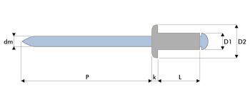 Q-Standard Blindniet Alu/Stahl FK