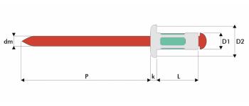 Q-Multigrip Mehrbereichsblindniet Alu/Edelstahl A2 FK