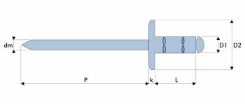 Q-Multigrip Mehrbereichsblindniet Stahl/Stahl EGK