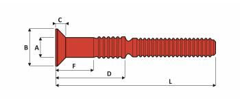 C6L Schliessringbolzen Edelstahl V2A Typ U SK