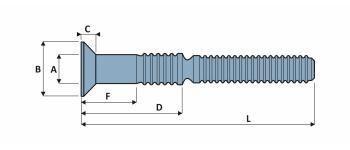C120L Schliessringbolzen  Stahl Typ R SK