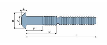 C50L Schliessringbolzen  Stahl Typ BR RK