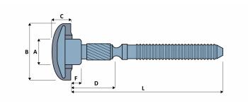 C24 HUCKTAINER Schliessringbolzen Stahl Typ HLPMG-R