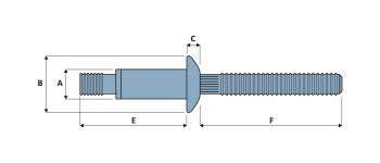 Magna-Bulb Blindbefestiger Stahl FK