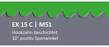 EX15C PONTUS M51 Bi-Metall Sägeband beschichtet