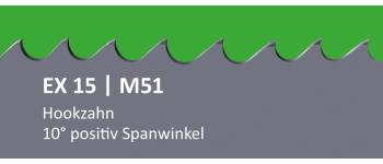 EX15 PONTUS M51 Bi-Metall Sägeband