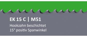 EK15C PONTUS M51 Bi-Metall Sägeband beschichtet