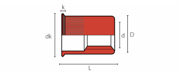 Q-Nut Blindnietmutter Edelstahl A2 kleiner SK M6, Kl=0.5-3.0,  Linksgewinde offen
