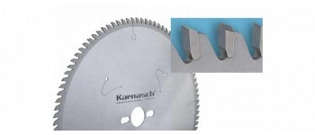 Hartmetall-bestücktes Kreissägeblatt, Dünnschnitt - POSITIV - Aluminium, Kunststoffe, Fensterprofile