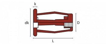 Q-Fold-Nut Käfig Blindnietmutter Edelstahl A4 FK