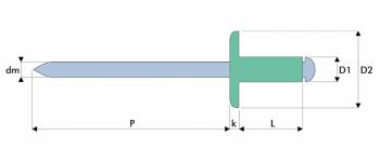 Q-Standard Blindniet Alu/Stahl GK