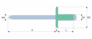 Q-Standard Blindniet Alu/Stahl EGK