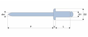 Q-Standard Blindniet Stahl/Stahl FK