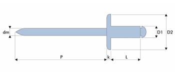 Q-Standard Blindniet Stahl/Stahl GK