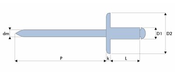 Q-Standard Blindniet Stahl/Stahl EGK