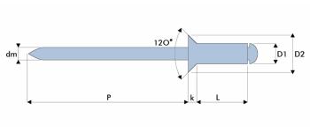 Q-Standard Blindniet Stahl/Stahl SK