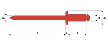 Q-Standard Blindniet Edelstahl A2/A2 FK