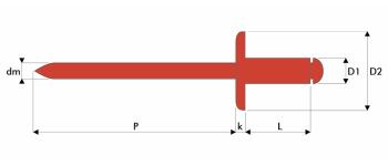 Q-Standard Blindniet Edelstahl A2/A2 GK