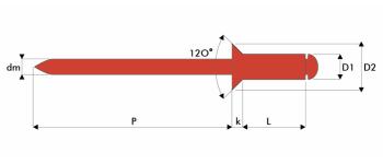 Q-Standard Blindniet Edelstahl A2/A2 SK