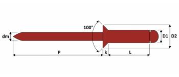 Q-Standard Blindniet Edelstahl A4/A4 SK