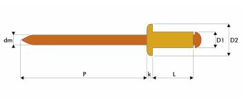 Q-Standard Blindniet Kupfer/Bronze FK