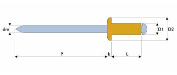 Q-Standard Blindniet Kupfer/Stahl FK