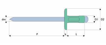 Q-Multigrip Mehrbereichsblindniet Alu/Stahl GK