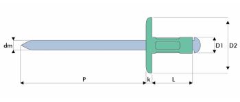 Q-Multigrip Mehrbereichsblindniet Alu/Stahl EGK