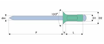Q-Multigrip Mehrbereichsblindniet Alu/Stahl SK