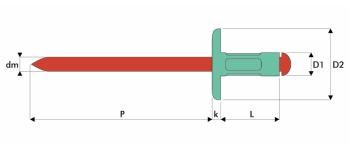 Q-Multigrip Mehrbereichsblindniet Alu/Edelstahl A2 GK