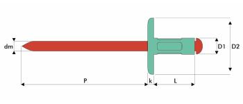 Q-Multigrip Mehrbereichsblindniet Alu/Edelstahl A2 EGK