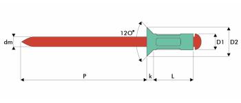 Q-Multigrip Mehrbereichsblindniet Alu/Edelstahl A2 SK
