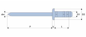 Q-Multigrip Mehrbereichsblindniet Stahl/Stahl FK