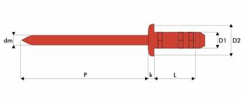 Q-Multigrip Mehrbereichsblindniet Edelstahl A2/A2 FK