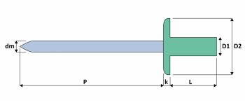 Q-Sealed Dicht-/Becherniet Alu/Stahl GK