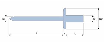 Q-Sealed Dicht-/Becherniet Stahl/Stahl GK