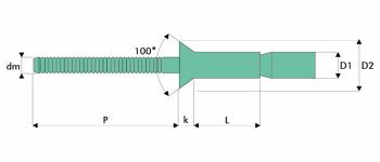 Q-M-Power Hochfeste Struktur Blindniet Alu/Alu SK