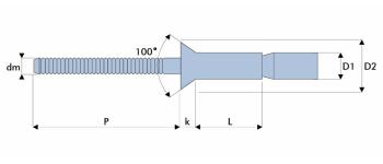 Q-M-Power Hochfeste Struktur Blindniet Stahl/Stahl SK