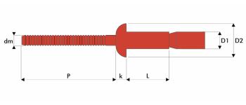 Q-M-Power Hochfeste Struktur Blindniet Edelstahl A2/A2 FK