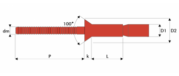 Q-M-Power Hochfeste Struktur Blindniet Edelstahl A2/A2 SK