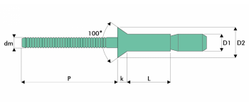 Q-P-Power Hochfeste Struktur Blindniet Alu/Alu SK