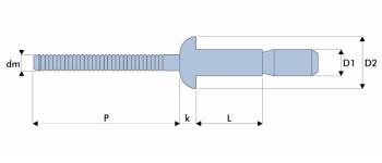 Q-P-Power Hochfeste Struktur Blindniet Stahl/Stahl FK
