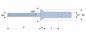 Q-P-Power Hochfeste Struktur Blindniet Stahl/Stahl SK