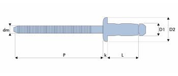 Q-A-Power Hochfeste Struktur Blindniet Stahl/Stahl FK