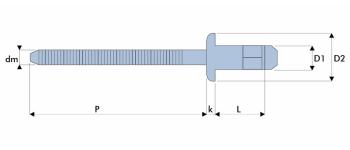 Q-H-Power Hochfeste Struktur Blindniet Stahl/Stahl FK