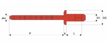 Q-H-Power Hochfeste Struktur Blindniet Edelstahl A2/Edelstahl A2 FK